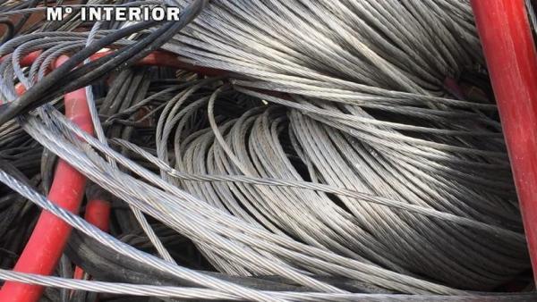 Cable de cobre recuperado en Coria