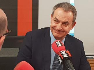 Rodríguez Zapatero, en la entrevista de este martes en RAC-1.