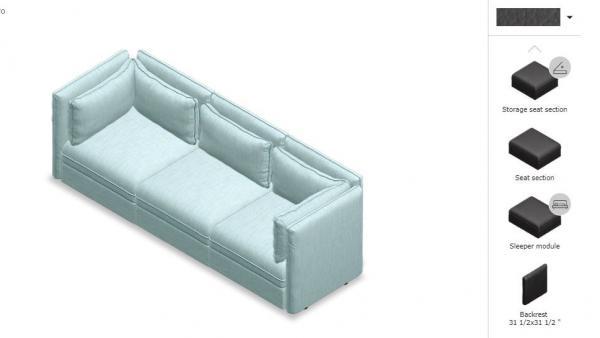 Herramienta de diseño de sofás