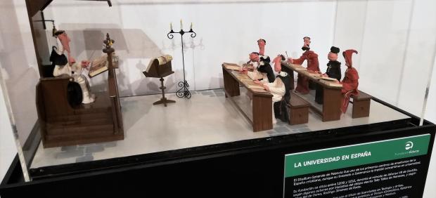 Una de las escenas en plastilina de la exposición