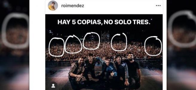 Tuit de un concierto de Roi Menéndez