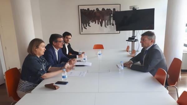 Reunión entre representantes de Ciudadanos y el director general de AEGE