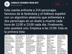 Tuit fijado de Famous Spanish War Bot