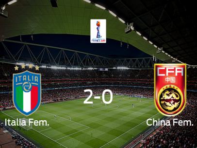 Italia sigue en el Mundial Femenino tras derrotar a China en los octavos de final (2-0)