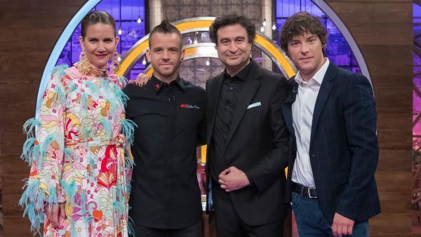 Samantha Vallejo-Nágera, Dabiz Muñoz, Pepe Rodríguez y Jordi Cruz, en 'MasterChef 7'.