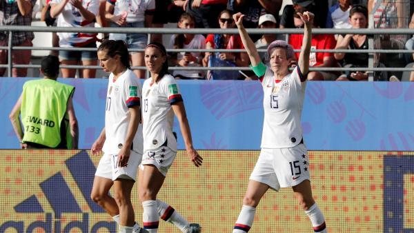 Megan Rapinoe, con Estados Unidos en el Mundial