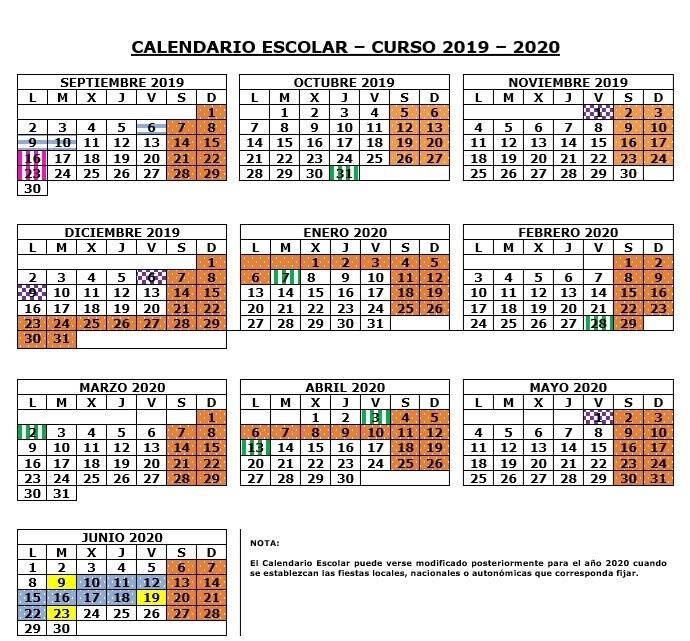 Calendario 2019 Escolar 2020 Madrid.Calendario Escolar 2019 2020 En Madrid Cuando Empiezan Los