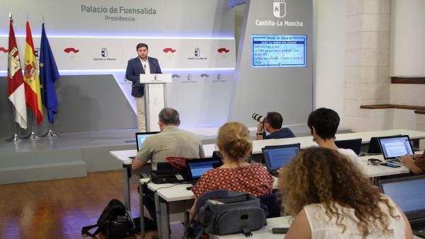 El portavoz del Gobierno regional, Nacho Hernando, en rueda de prensa