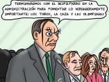 'Despilfarro en la Administración Pública', viñeta de Superantipático.