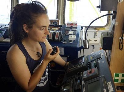 Carola Rackete, en el 'Sea Watch'