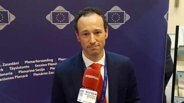 El consejero de Presidencia del Principado de Asturias, Guillermo Martínez, en el Comité de las Regiones.