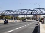 Los semáforos de la A-5, en ámbar.