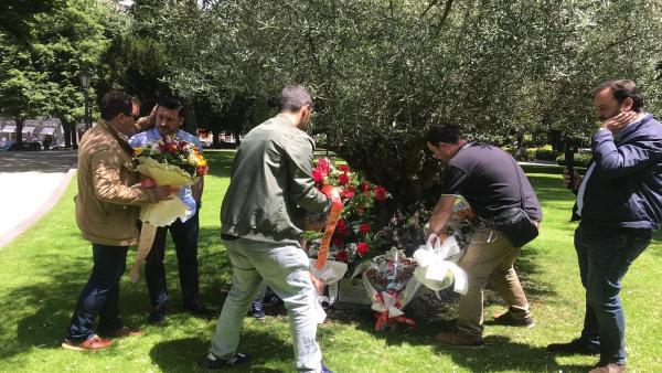 Homenaje a Manuel Fernández 'Lito' en el Parque San Francisco.