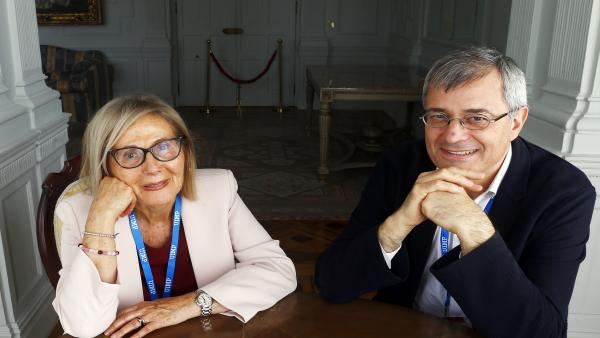 Josep Borrás y María Antonia Gimón en la UIMP