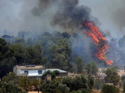 El incendio de Tarragona arrasa con 6.500 hectáreas