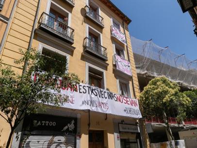 Encomienda, 18, un bloque en el que están proliferando las viviendas de uso turístico en Lavapiés.