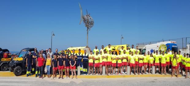 Dispositivo humano de vigilancia de playas de Tarifa