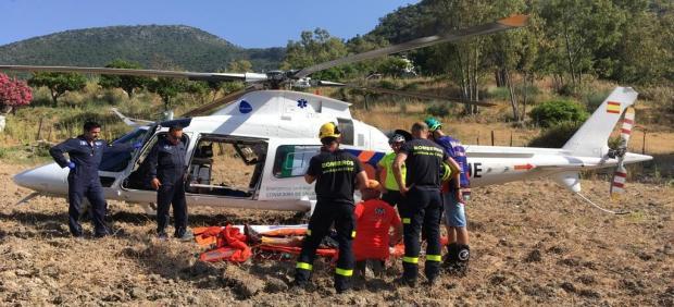 Rescate de un ciclista en el Parque Natural de la Sierra de Grazalema