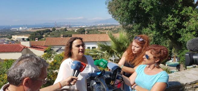 Ángela Aguilera en la rueda de prensa