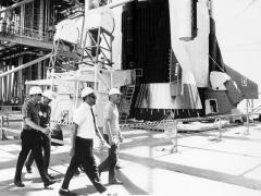 La tripulación del Apolo 11, en junio de 1969.