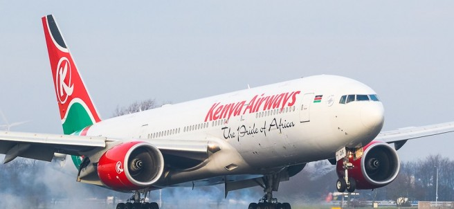 Avión de Kenya Airways