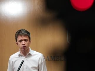 Imagen de archivo del portavoz de Más Madrid en la Asamblea de Madrid, Iñigo Errejón, en rueda de prensa.