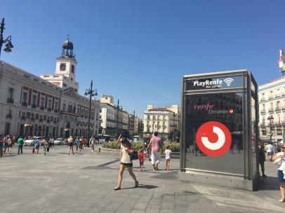 La Puerta del Sol, en Madrid