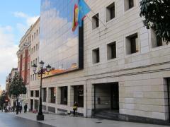 Edificio de la Tesorería general de la Seguridad Social en Oviedo.