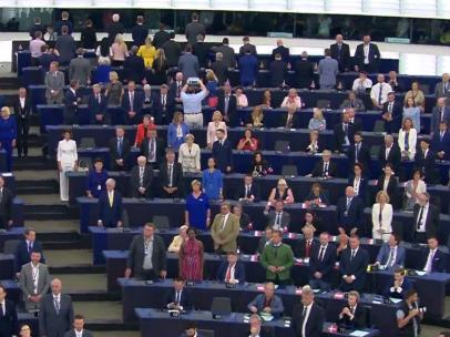 Apertura de la novena legislatura del Parlamento Europeo, en Estrasburgo.