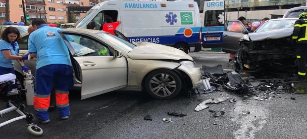 Accidente en la avenida en Cádiz