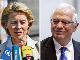 Von der Leyen, Borrell y Lagarde