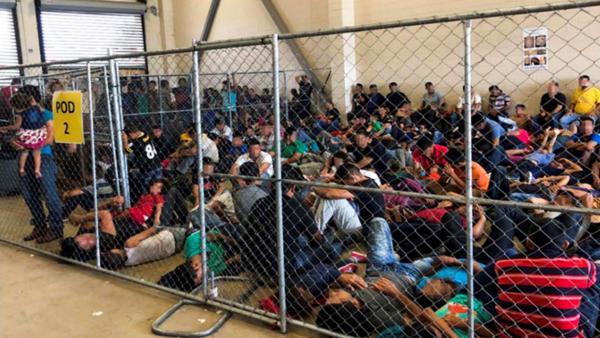 Hacinamiento en comisarías de la frontera de EE UU