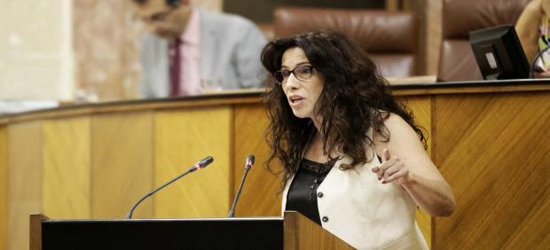 Intervención de la consejera de Igualdad, Rocío Ruiz, ante el Pleno del Parlamento de Andalucía.