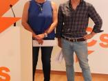 La que será diputada de Cs en la Diputación de Guadalajara Olga Villanueva en rueda de prensa