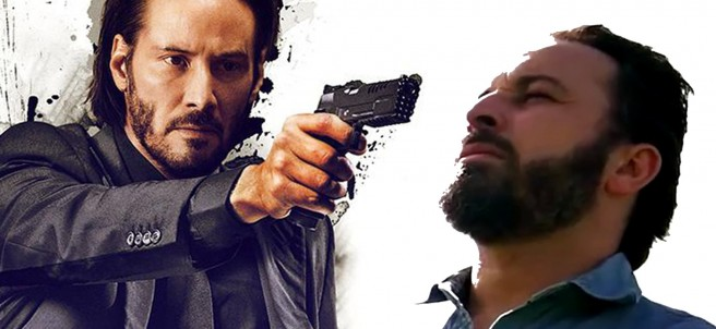 Keanu Reeves asesina a Santiago Abascal en el bot que simula una batalla entre famosos del mundo