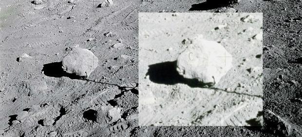 Imagen de la famosa roca con la letra