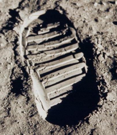 Huella de Buzz Aldrin en la Luna