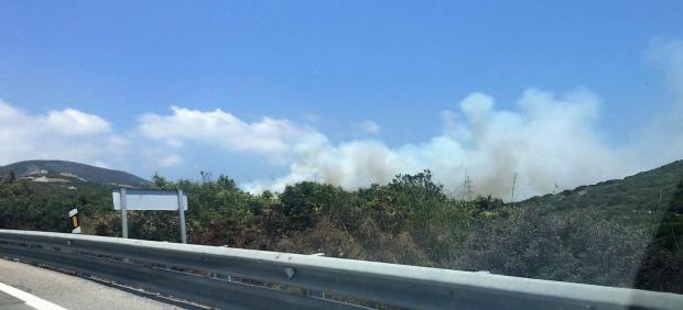 Incendio en paraje de Tarifa