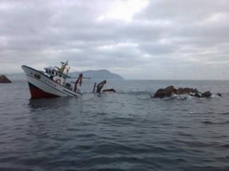Barco hundido.