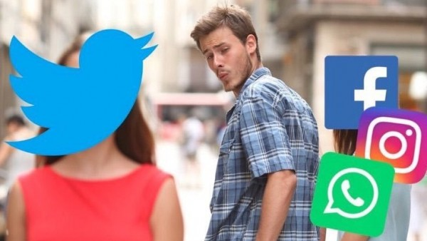 Meme de la caída de Facebook y WhatsApp