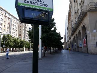 Las temperaturas en Zaragoza pueden alcanzar estos días los 41ºC