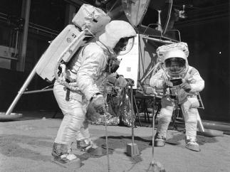 Buzz Aldrin y Neil Armstrong