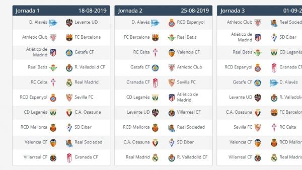 Calendario De Vacunacion 2020.Calendario De La Liga 123