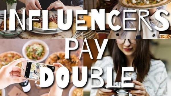 """La campaña de esta empresa heladera """"Influencers pay double"""""""