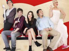 Los cinco protagonistas de 'S.I.N.G.L.E.S.', la comedia escrita y dirigida por Javier Andrés y Pepe Cabrera