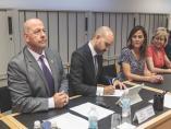 Los impulsores de la Unión Profesional de Guadalajara rubrican el acuerdo para la creación de esta nueva plataforma