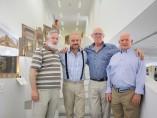 Lucio Hueras, Fernando Sánchez, Pedro Breguería y Juan Pablo Sánchez , reunidos en la biblioteca Mario Vargas Llosa. jorge parís