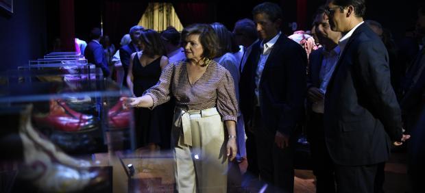 La vicepresidenta del Gobierno, Carmen Calvo, en la inauguración de una nueva edición del Festival de Teatro Clásico de Almagro