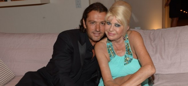 Rossano Rubicondi junto a su exmujer, Ivana Trump