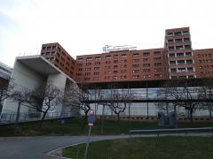 Fachada del Hospital General de la Vall d'Hebron de Barcelona